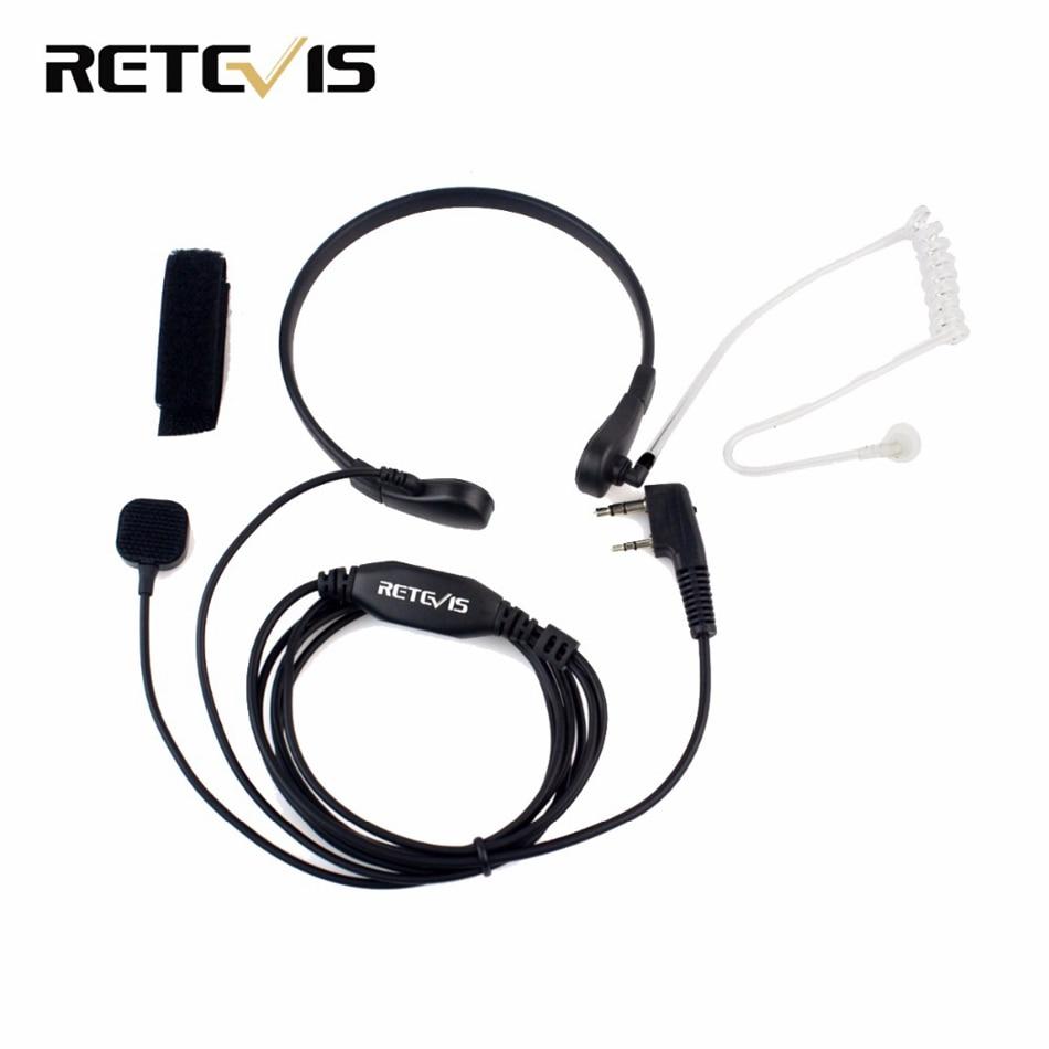 Throat Mic Earpiece Headset Headphone PTT For Baofeng UV5R UV3R BF-888 BF-999