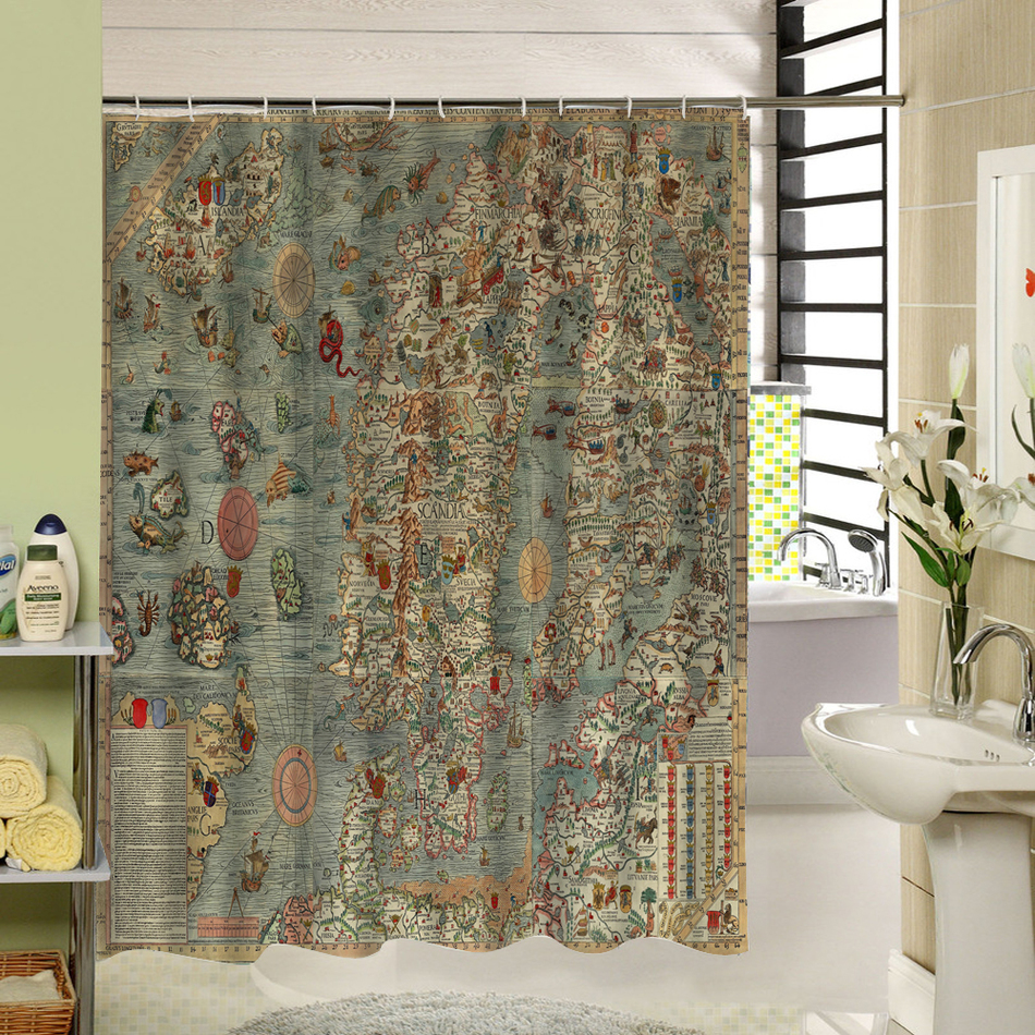 Exceptionnel CHARMHOME Modern Bathroom Shower Curtains World Map Bath Curtain Bathroom  Decor Waterproof Polyester Fabric Shower Curtain In Shower Curtains From  Home ...