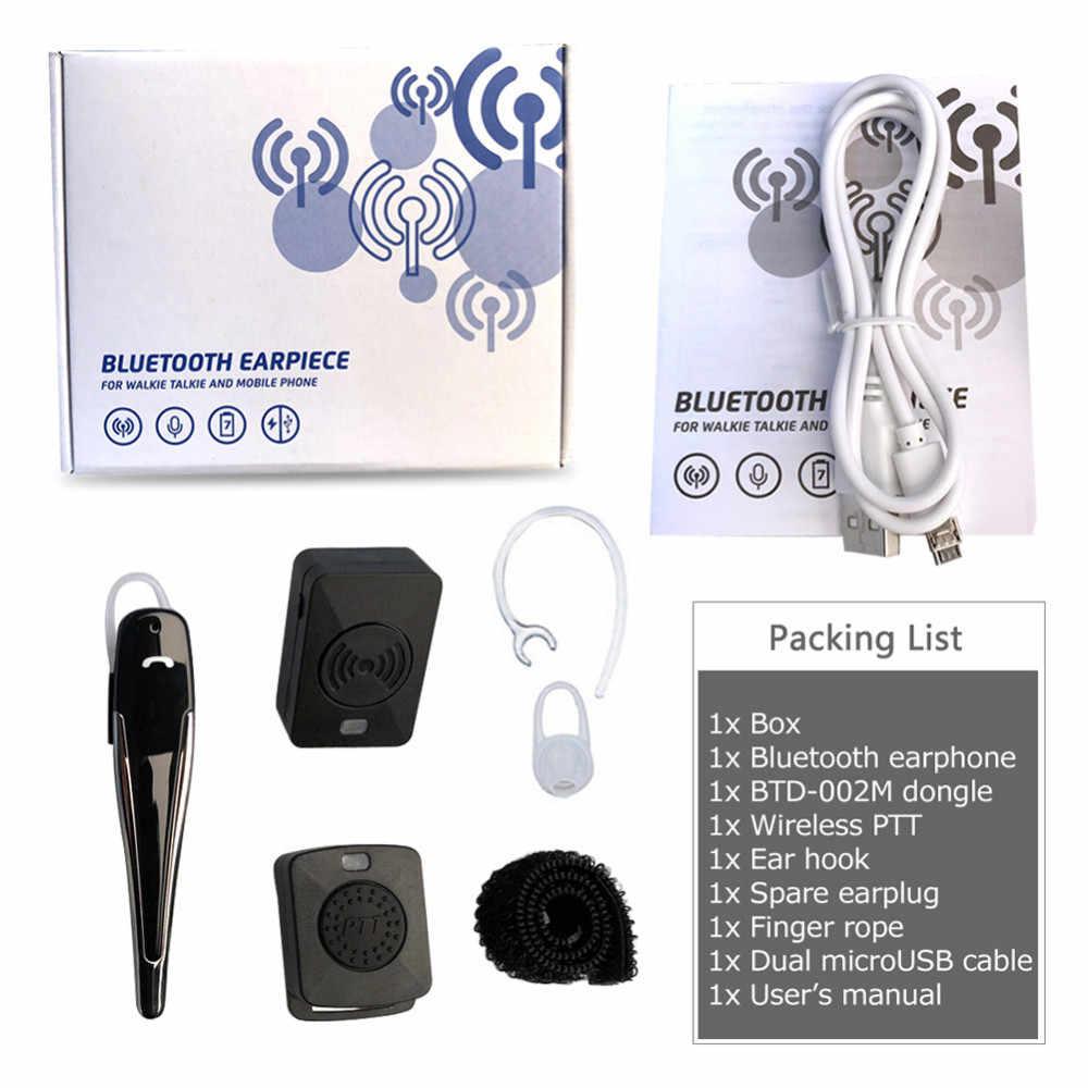 Wireless Bluetooth Motorcycle HF PTT Earphone M Head 2-CH For Motorola Car  Baofeng GP88 A81 Hands-free Bluetooth Headset