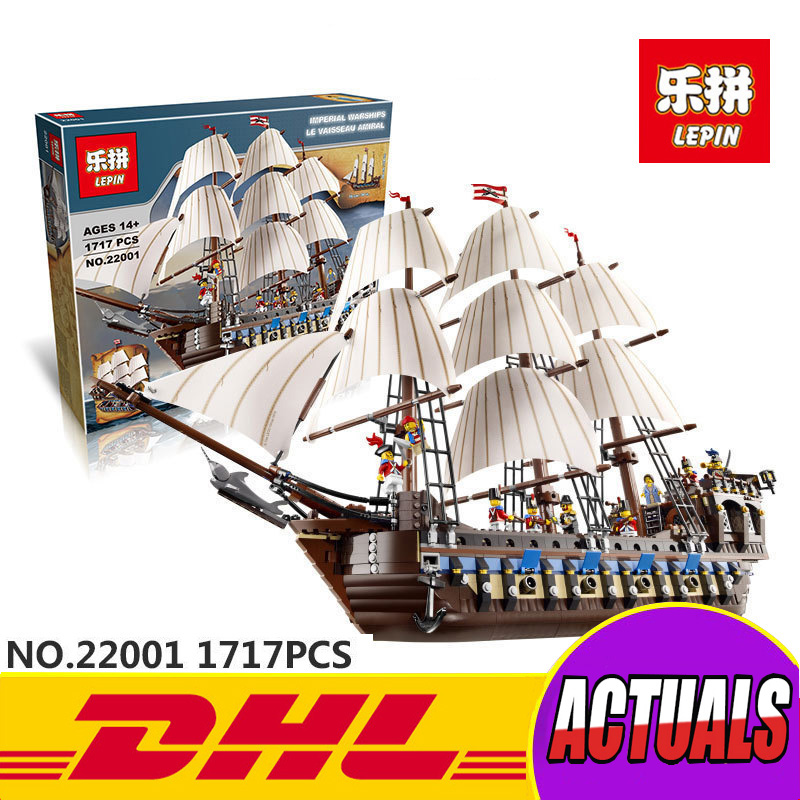 NEW Lepin 22001 Pirate Ship Imperial warships Model Building Kits Block Briks Toys Gift 1717pcs Compatible in stock new lepin 22001 pirate ship imperial warships model building kits block briks toys gift 1717pcs compatible10210