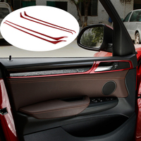 Car Styling Interior Door Panel Moulding Cover Trim Strips 3D Stickers For BMW X3 X4