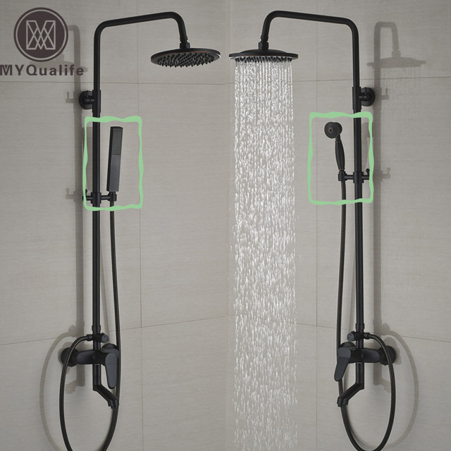 deux style montage mural salle de bains douche robinet mitigeur baignoire mitigeurs de douche. Black Bedroom Furniture Sets. Home Design Ideas