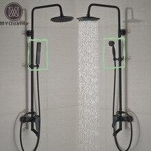 Dos Estilo de Montaje En Pared de Baño Grifo de la Ducha Sola Manija Bañera Mezcladores de Ducha con Ducha de mano