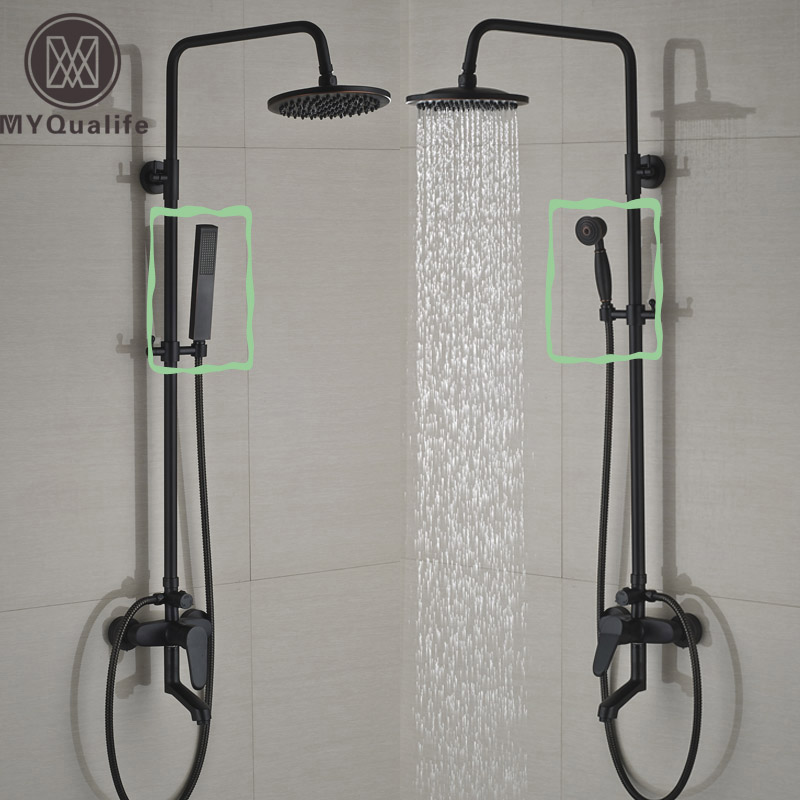 Two Style Wall Mount Bathroom Shower Faucet Single Handle Bath Tub Shower Mixers with Handshower