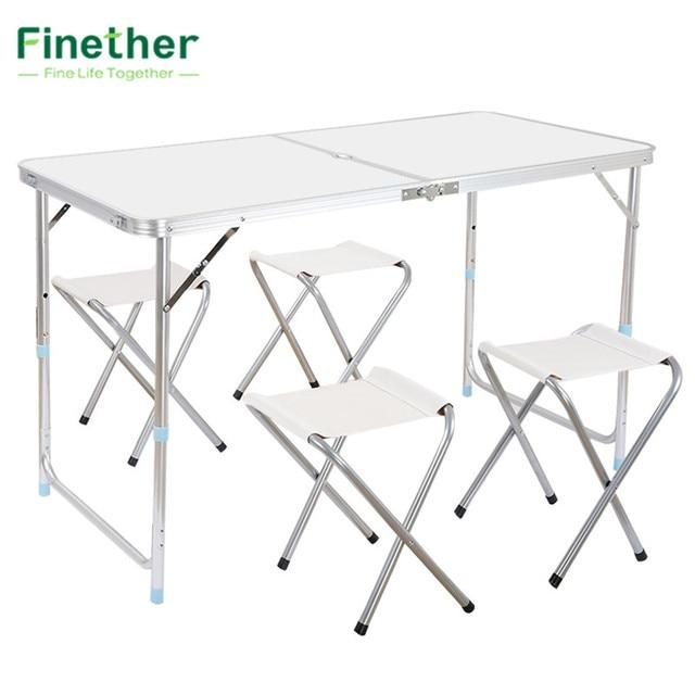 Finether portátil ajustable mesa al aire libre ultraligero altura de ...