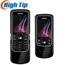 Хорошее Разблокирована оригинальный Nokia 8600 Luna Мобильный телефон английский русский клавиатура и язык столб Сингапур Бесплатная доставка