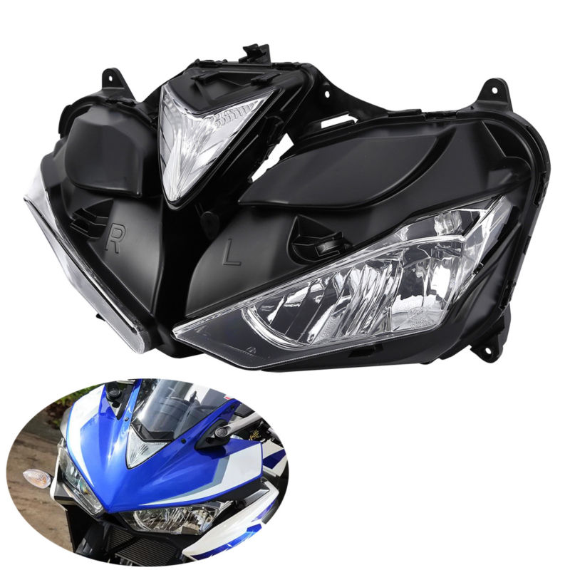 Motorcycle Front <font><b>Headlight</b></font> Assembly Head Lamp Clear Lens For Yamaha YZF R3 <font><b>R25</b></font> 2013-2016 image