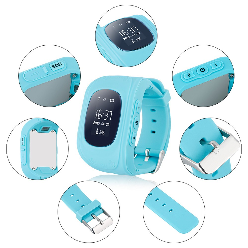 2016 Smart Kid Safe GPS Watch Wristwatch SOS Call Location Finder Locator Tracker for Kid Child Anti Lost Monitor Baby Gift Q5017