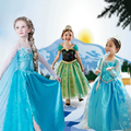 Children Dress Girl Princess Dress Elsa Anna Dress Summer Long-Sleeve Diamond Dress Costume, Multi Designs, Size 100-150, LC03