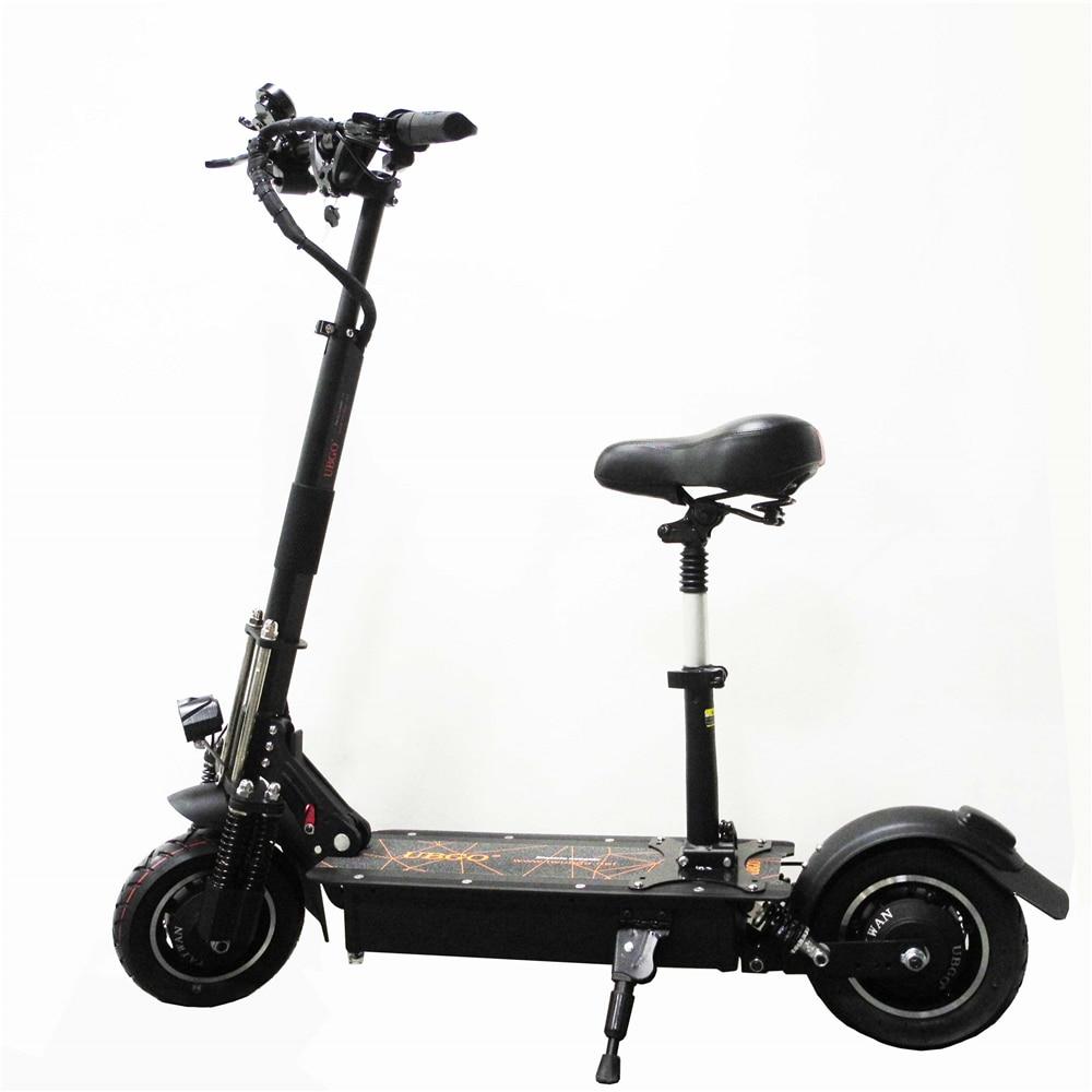 UBGO 1005 60 V/52 V Doppio Azionamento 2000 W motore potente scooter elettrico 10 pollici E-Scooter con olio freno