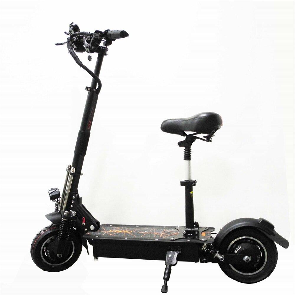 UBGO 1005 60 v/52 v Dupla Unidade 2000 w motor de scooter elétrico poderoso 10 polegada Scooter E- com óleo de freio