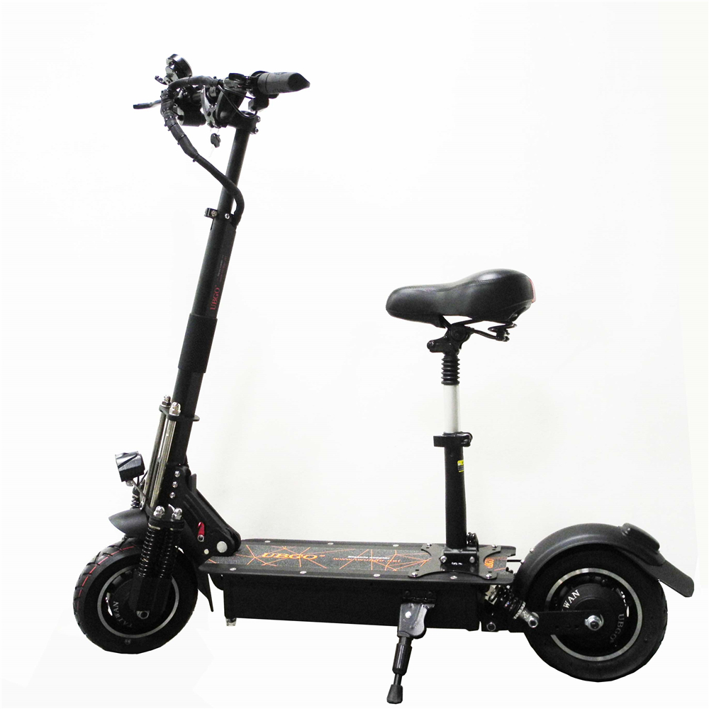 UBGO 1005 60V/52V Double Drive 2000W motor powerful electric scooter 10inch E-Scooter with oil brake цена