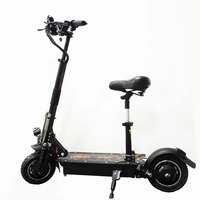 UBGO 1005 60V/52V Double Drive 2000W motor powerful electric scooter 10inch E Scooter with oil brake