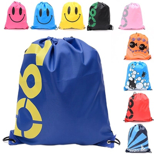 Top Quality Double Layer Drawstring Gym Waterproof Backpacks Swimming Sports Beach Bag Travel Portable Fold Mini Shoulder Bags