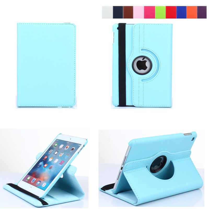 360 Degree Rotating Stand Flip PU Leather Smart Cover For Apple ipad Mini 4 Magnetic Case For ipad Mini 4 7.9