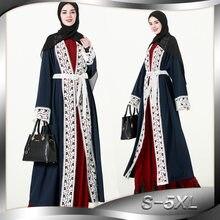 Women Muslim Robes Arabian Turkish Muslim Cardigan Printed Dress Islamic  Clothing Maxi Dress Robes Muslim Women Clothing L306 1e5e434a771a