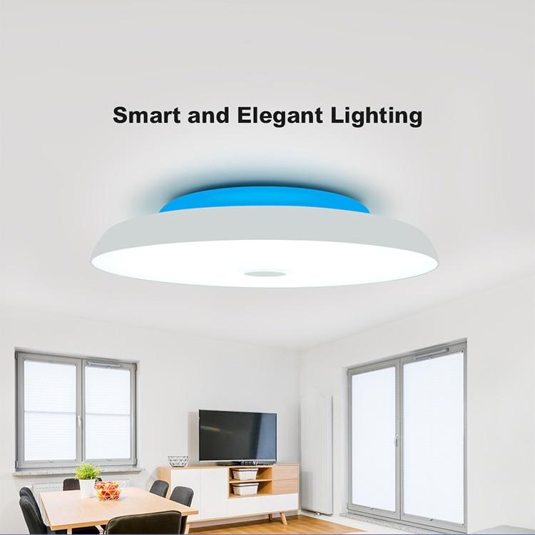 HTB1EYBNXpY7gK0jSZKzq6yikpXaY Modern LED ceiling Lights home lighting 25W 36W 52W APP Bluetooth Music light bedroom lamps Smart ceiling lamp