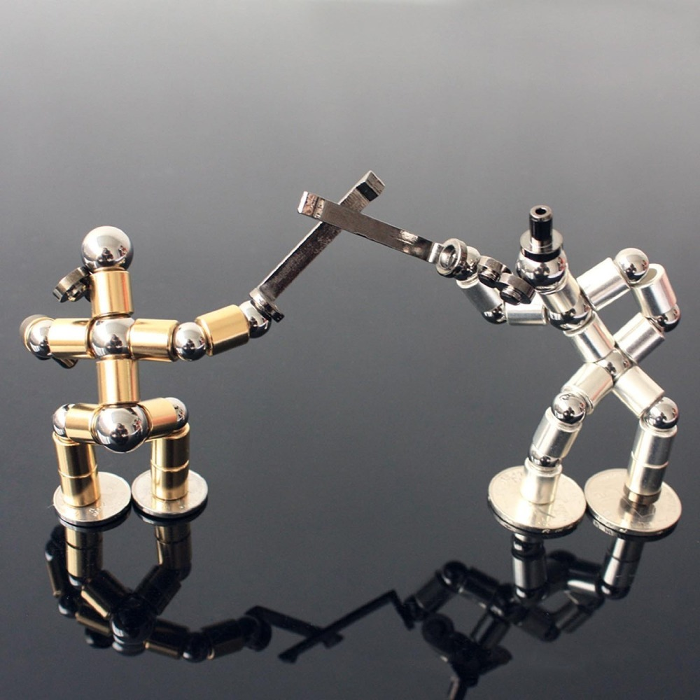 Metal Magic Fidget Pen DIY For Fidgeter Modular Magnetic Think Ink Pen Cube Tool Toy Polar Pen Stress Wheel Touch Pen For Ipad