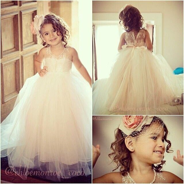 2018 Flower Girl Dresses For Weddings Ball Gown Scoop Tulle Lace Bow ...