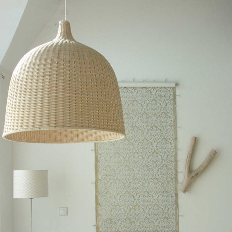 Современные подвесные потолочные лампы светодиодные подвесные светильники бамбуковый деко ожидающее освещение столовая гостиная спальня подвесная осветительная арматура