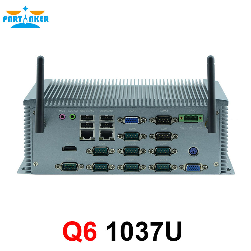 Industrial Mini PC Fanless PC With 2* Intel Gigabit Ethernet Support Wake ON LAN/PXE 10*COM недорго, оригинальная цена