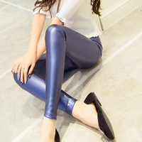 Slim Female Leather Thin Spring And Summer Tight Fitting Women S Pencil Elastic PU Long Pants