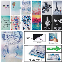 Fashion Flower Owl Skull Pattern Case For Samsung Galaxy Tab A 8.0 SM-T380 SM-T385 T385 2017 8.0 Smart Cover Funda Tablet Shell case for samsung galaxy tab a 8 0 sm t380 t385 tablet protective cover pu leather taba 8 sm t385 sm t385 sm t380 cover cases