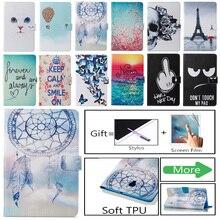 Fashion Flower Owl Skull Pattern Case For Samsung Galaxy Tab A 8.0 SM-T380 SM-T385 T385 2017 Smart Cover Funda Tablet Shell