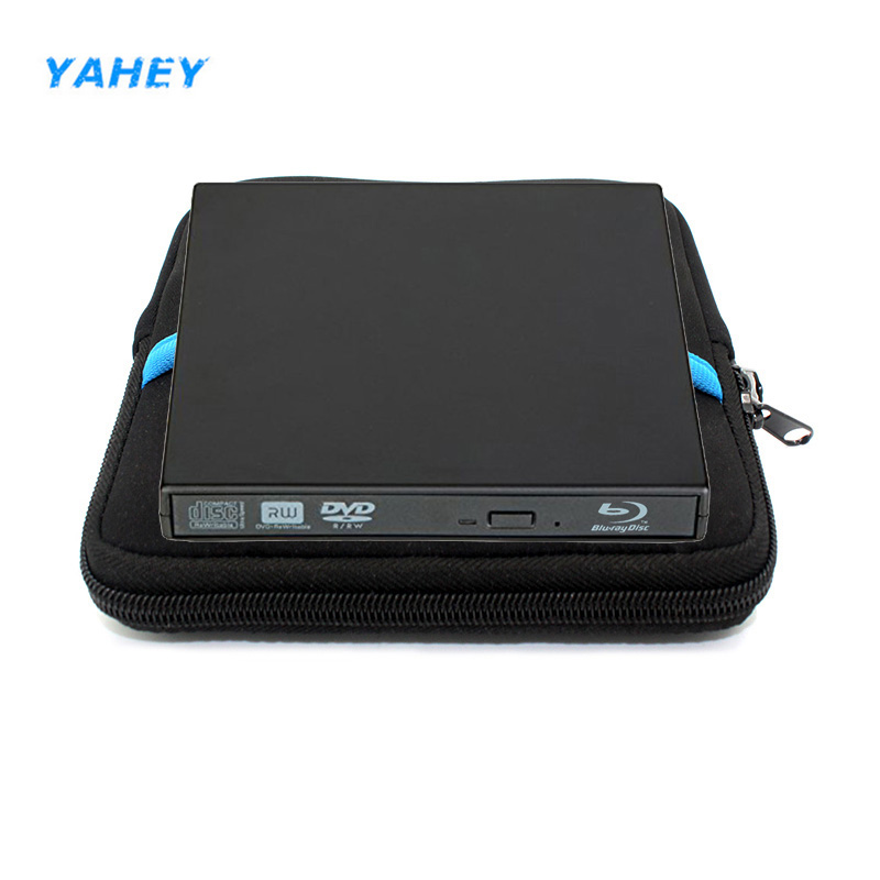 цена на External Bluray Player USB 2.0 DVD Drive Blu-ray 25/50G BD-ROM BD-RM CD/DVD RW Burner Writer for Laptop Computer PC+drive bag