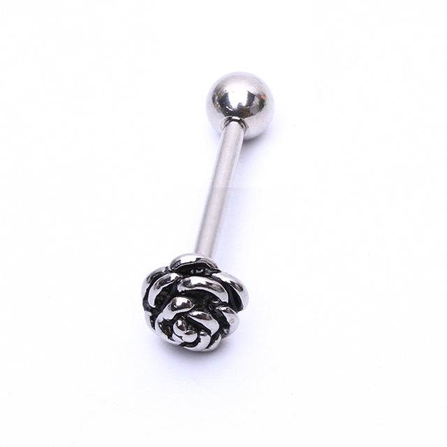 316L Stainless Steel Flowers Tongue Ring