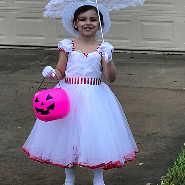 27dd01815e86 DZYECI Mary Poppins Costume For Baby Girl Vintage Dress Carnaval Kid ...