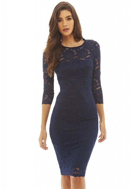 Womens Lace Dresses Wear To Work Business Casual Vestidos