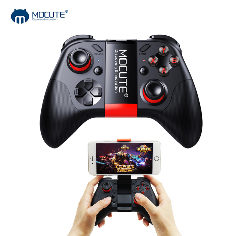 Mocute 054 Bluetooth Gamepad Crystal Button Android Joystick PC Wireless Remote Controller Game Pad for Smartphone for VR TV BOX terios s3 wireless bluetooth gamepad bluetooth joystick gaming controller black for android smartphone tablet pc holder included