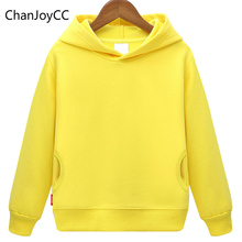 Autumn Winter New fashion Children's Plus Cashmere Warm Hoodie Sweater Coat Boy And Girl's Cotton Solid Sports Leisure