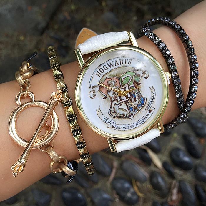 Dropship marka hogwart magia szkoła zegarki moda kobiety zegarek Casual luksusowe zegarki kwarcowe zegary Relogio Feminino prezent 1