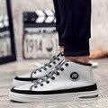 Men Shoes 2017 New Autumn Fashion Men Casual Shoes lace-up Warm Brand Winter Shoes Genuine Leather High Top Flat Shoes Men