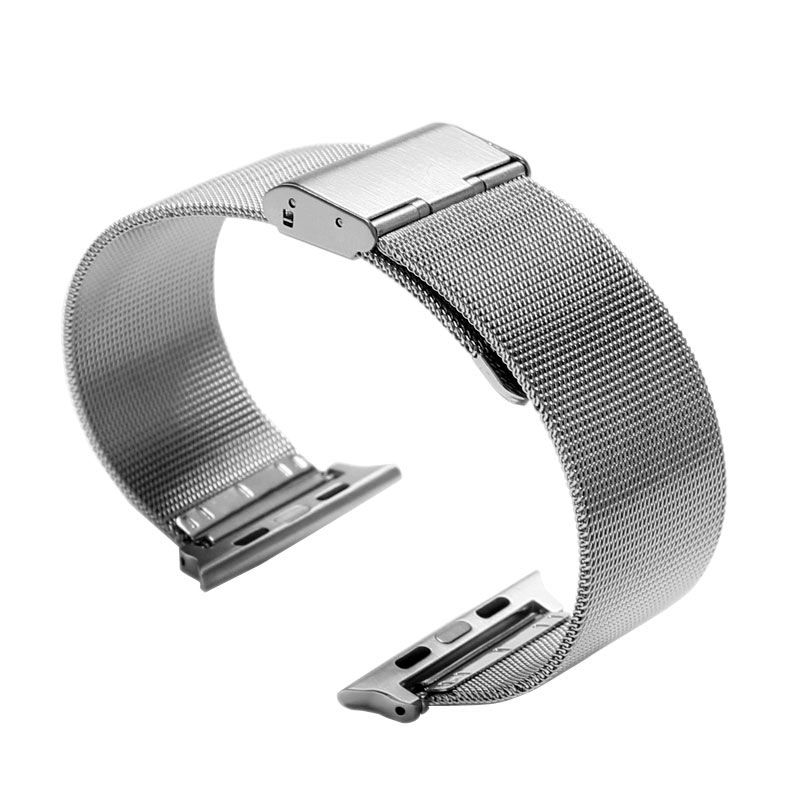 Fashion 38mm 42mm Replacement Stainless Steel Mesh Watch Band Strap for Apple Watch iWatch Black/Silver HQ Milanese Loop fashion watch strap for apple watch band 42mm 38mm milanese loop stainless steel mesh magnetic wrist band with case for iwatch