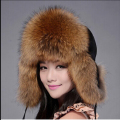 ZDFURS 2016 Best Christmas gift! New Arrival Fashion Women Genuine Fox Fur Hat Russian Warm Leifeng Fur Cap 8 Color