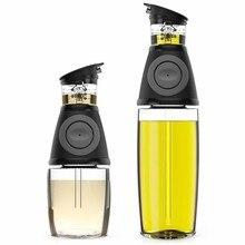 Set de 2 unids/set de botellas dispensadoras de aceite de oliva de 9/17 oz, vinagrera de vinagre de aceite con caños sin goteo, utensilios de cocina