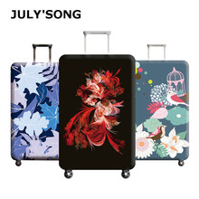 JULYS SONG Plum Flower Travel Luggage Cover Bird Pattern Womens Trolley Suitcase Case Protect Dust