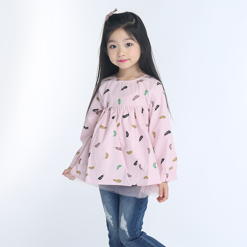 2 9 years Girls Children s Bottoming Shirt kid dress clothes Children s dress spring and