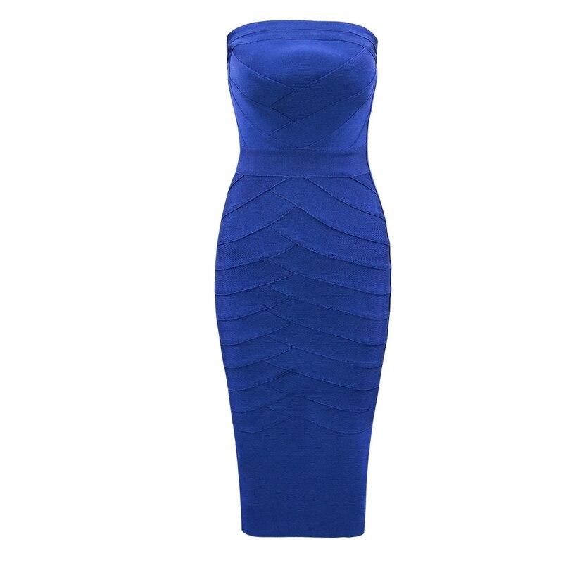 Delle Senza Midi Fasciatura deep Di Vestito Sexy Signore Bodycon Promenade Modo Vesticos Fromal White 2018 Blu Spalline Royal Blue Nuovi Arrivi Dalla Sera Partito VSUzpMq
