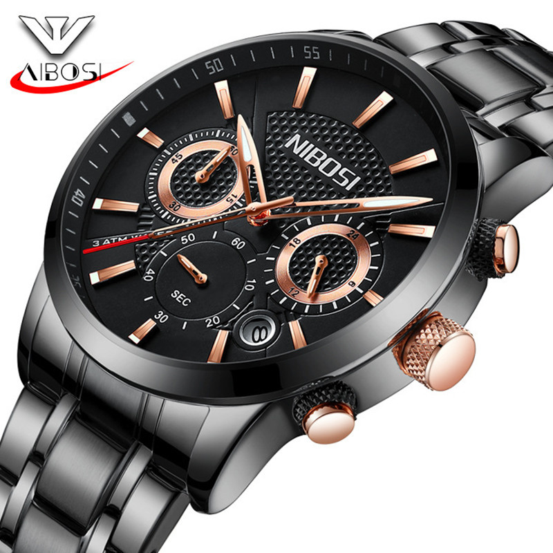 NIBOSI Creative Fashion Men Wrist Watch Luxury Calendar Analog Clock Luminous Waterproof Mens Quartz Watches erkek kol saati business men dress watch mens fashion quartz watches analog calendar steel male wristwatches kicadn casual clock erkek kol saati