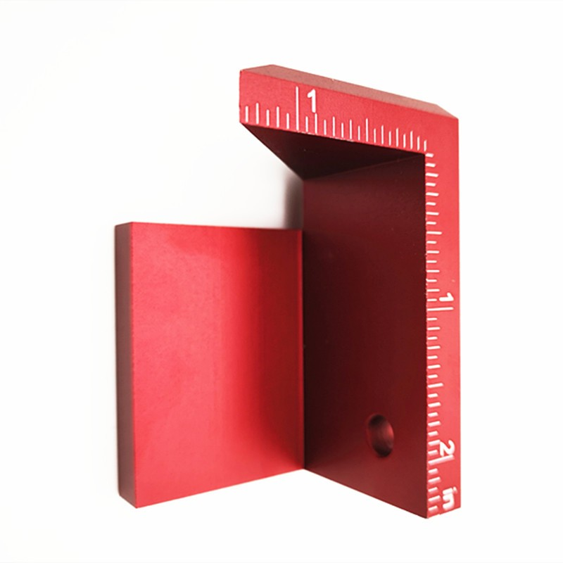 Купить с кэшбэком 1PCS 45 degree angle line drawing woodworking tools right angle line drawing round center line scribe british system JF1732