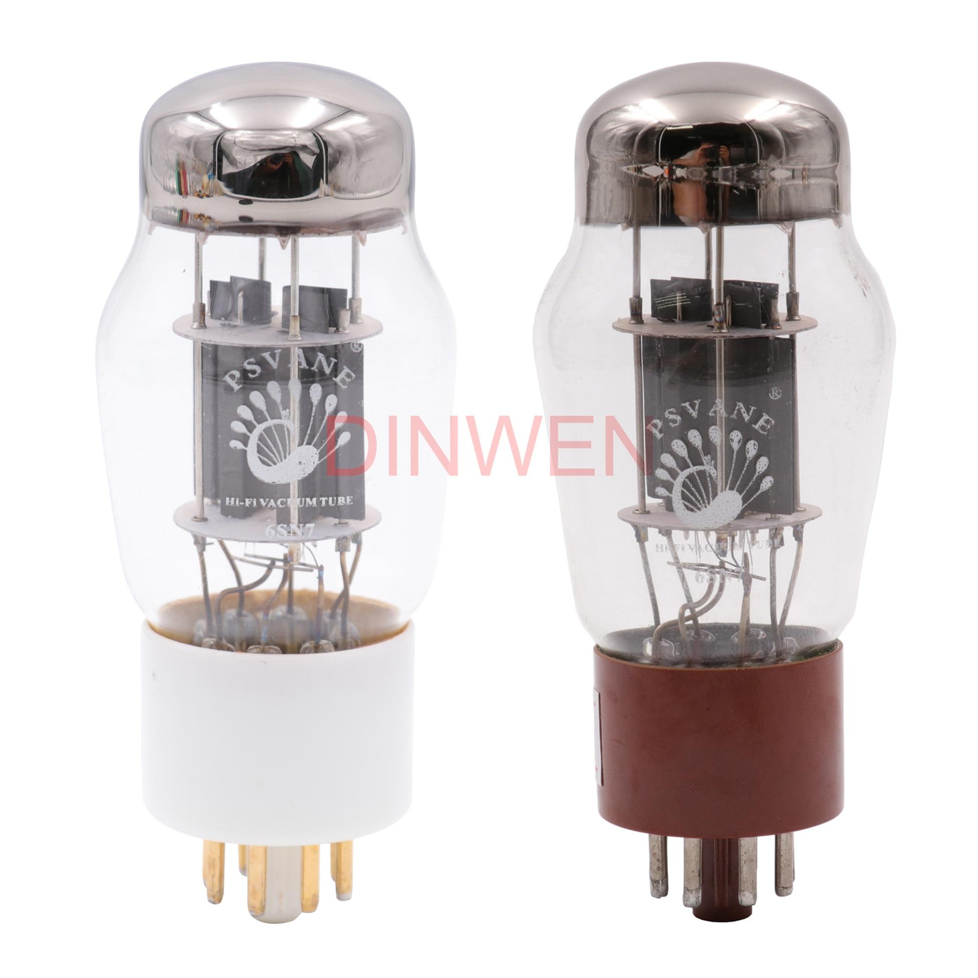 PSVANE Hifi 6SN7 Vacuum Tube Replace CV181 6N8P 6H8C Ceramic Base Hifi Audio Vintage Tube AMP DIY Factory Matched Pair