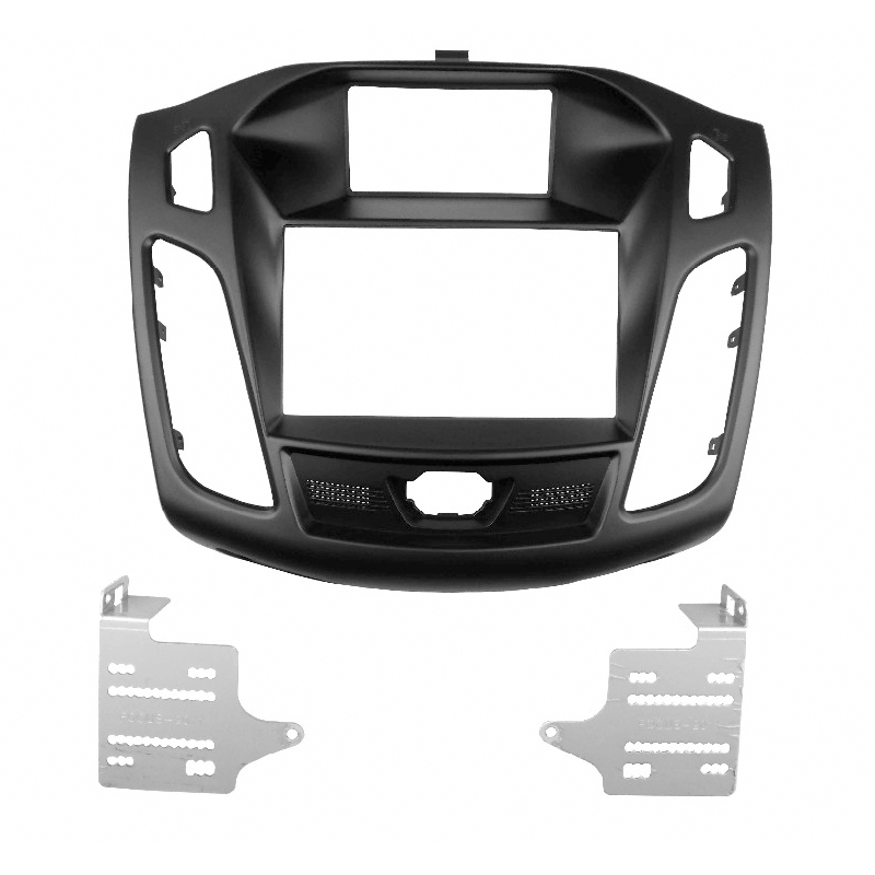 CD DVD Adapter Facia For FORD Focus III C-Max 2011 up Radio Stereo Panel Fascia C Max Face Plate Dash Install Mounting Trim Kit jstmax car dvd cd radio fascia panel face plate for toyota prius 2009 2012 right wheel stereo facia trim cd installation kit