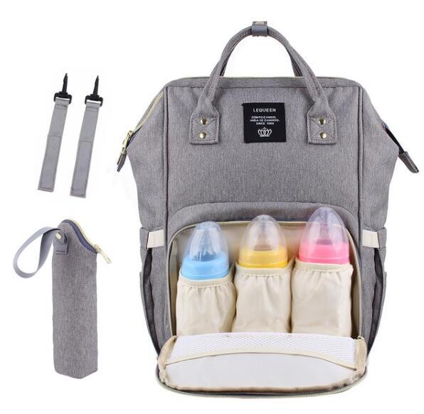 USB Wickeltaschen Große Wickeltasche Upgrade Mode Reiserucksack Wasserdichte Mutterschaft Taschen mit Haken und Flaschentasche