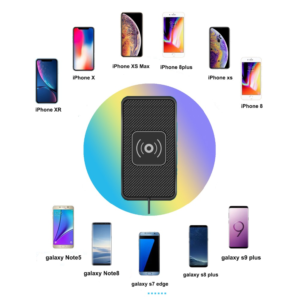 qi car charger charging pad fast wireless charging