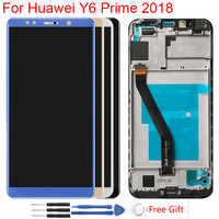 Original Y6 Prime 2018 LCD For Huawei Y6 2018 LCD Display Frame ATU L11 L21 L22 LX1 LX3 L31 L42 Touch Screen Digitizer Assembly
