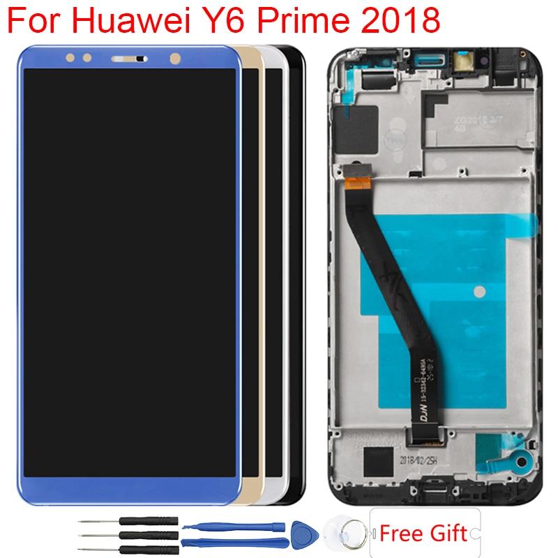 Original Y6 Prime 2018 LCD pour Huawei Y6 2018 LCD cadre d'affichage ATU L11 L21 L22 LX1 LX3 L31 L42 écran tactile numériseur assemblée
